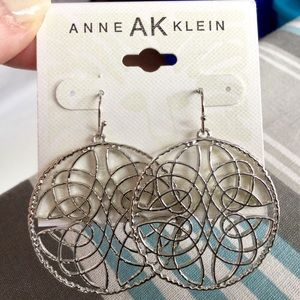 Anne Klein Silver Foil Earrings